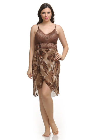 Brown Strap Nighty