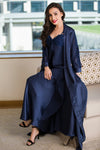 Private Lives Navy Blue Satin 2Pcs Set - Private Lives