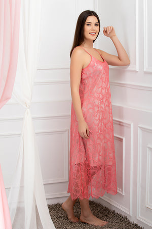 Private Lives Peach Satin 2Pcs Set - Private Lives