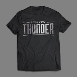 Awaken Thunder Tee - Black/Metallic Silver