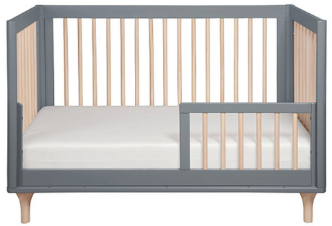 Lolly 3-in-1 Convertible Crib with Toddler Bed Conversion Kit (Grey/Natural)