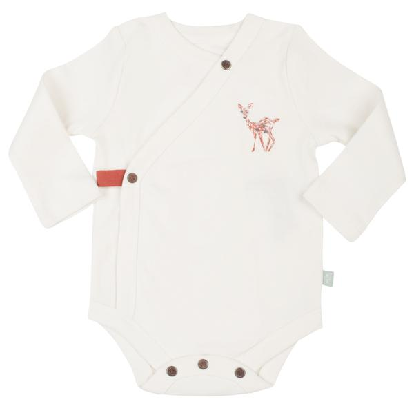 Fawn Collection Long Sleeved Bodysuit in Egret White