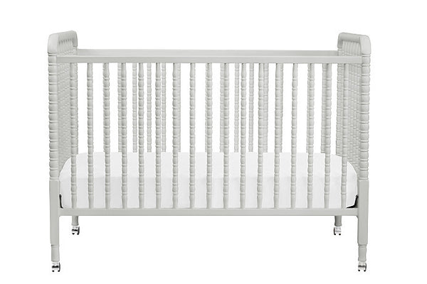 Bundle: Jenny Lind 3-in-1 Convertible Crib (Fog Grey) with Toddler Bed Conversion