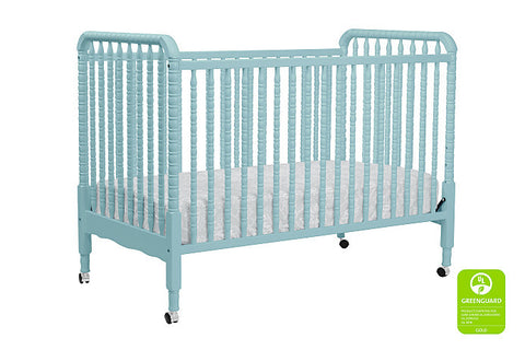 Jenny Lind 3-in-1 Convertible Crib with Toddler Bed Conversion Kit (Lagoon)