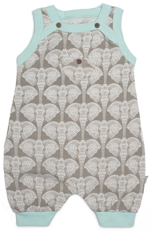 Safari Collection Romper In Elephant