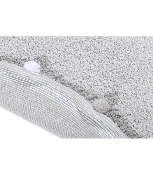 Lorena Canals Bubbly Soft Grey Washable Rug