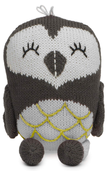 Fawn Collection Rattle Buddy Oona the Owl