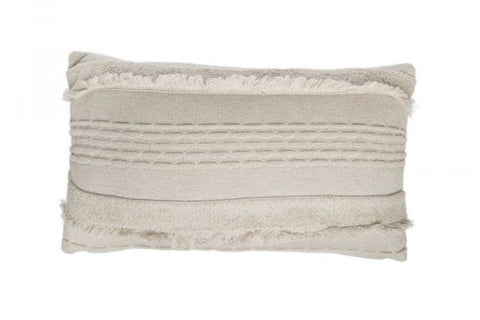 Lorena Canals Air Dune White Knitted Cushion