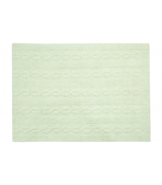 Lorena Canals Braids Soft Mint Washable Rug