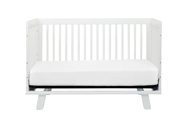 Hudson 3-in-1 Convertible Crib with Toddler Bed Conversion Kit (White)