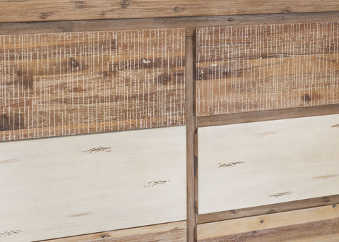 Colorado 3 Drawers With 2 Door Buffet In Brushed Sand With Textured Finish