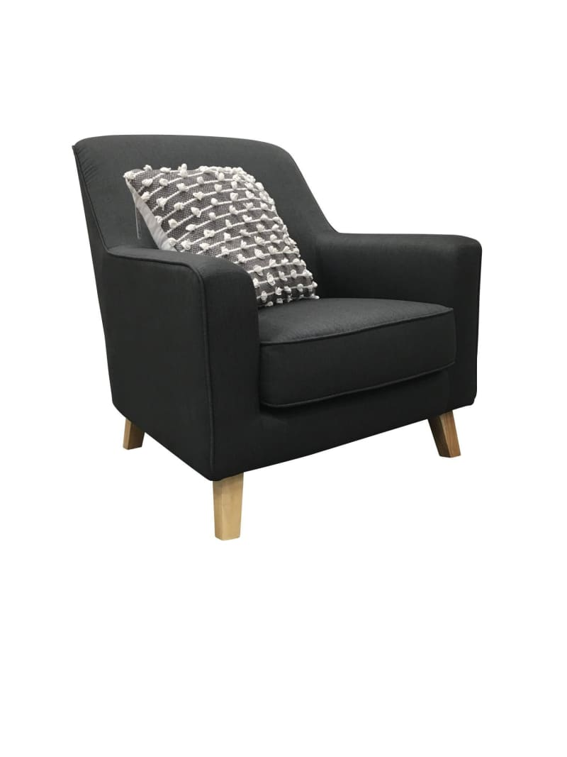 Our Furniture Warehouse Accent Chair In Asphalt Fabric
