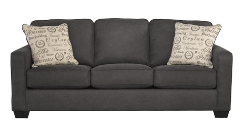Alenya 3 Seater Charcoal Fabric Includes 2 Scatter Cushions - LOUNGE