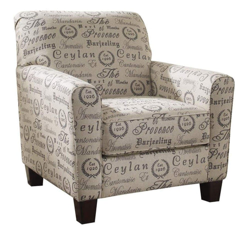Alenya Accent Chair Black Tea House Fabric - LOUNGE