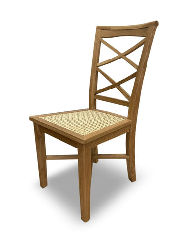 Bahamas dining chair natural oak frame rattan seat