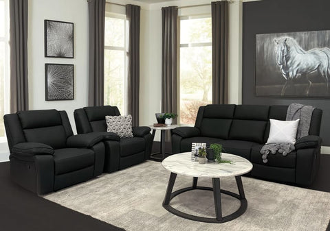 Bondi 3 Piece recliner sofa package in charcoal - LOUNGE