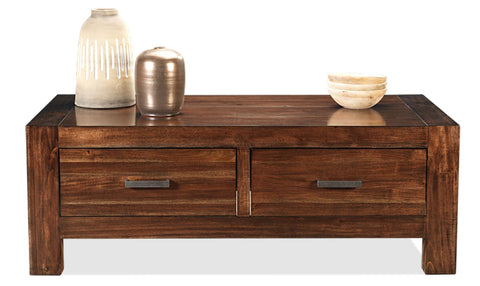 Brooklyn 4 draw coffee table in coffee finish - OCCASIONAL