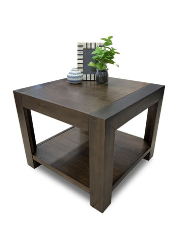 Brooklyn lamp table in coffee finish - OCCASIONAL