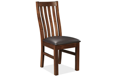 Brooklyn timber dining chair in coffee finish - DINING