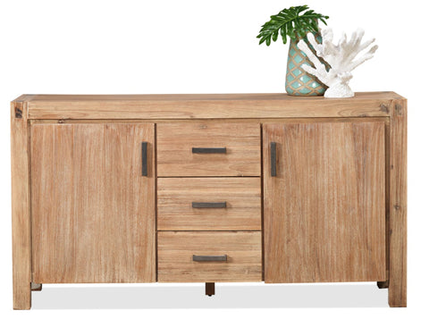 Cable Beach 1600 wide buffet in brushed acacia finish - DINING