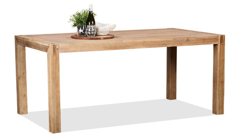 Cable Beach 1800x950 table in brushed acacia timber - DINING