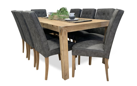 Cable Beach 9 Piece Package 210cm Table - DINING