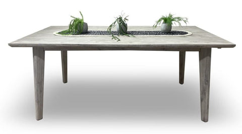 Croft 1800 Hardwood Table In Grey Wash