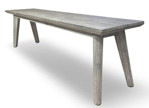 Croft Hardwood Bench In Grey Wash