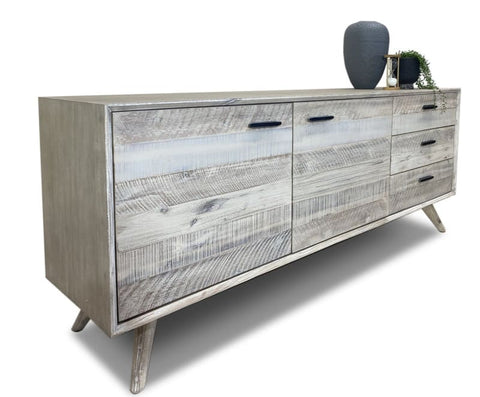 Croft Hardwood Buffet In Grey Wash