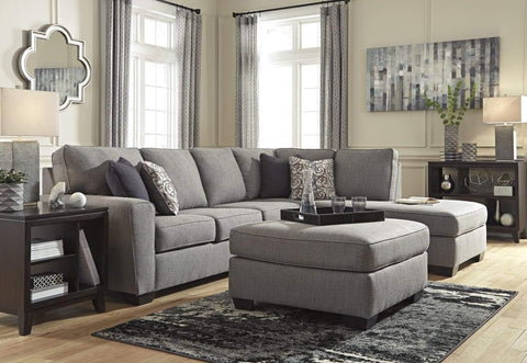 Larusi Rhf Chaise Lounge In Iron Includes Scater Cushions - LOUNGE