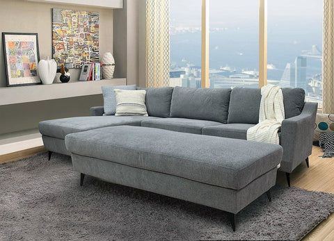 Leon Left Side Chaise Including Ottoman - LOUNGE