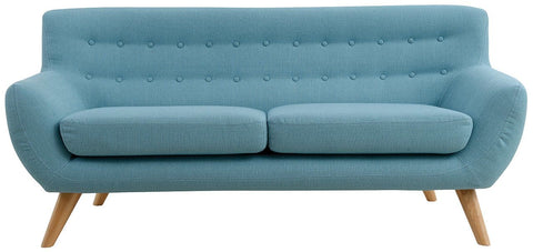 Maddie 3 Seater Sofa In Aqua 68S Fabric With Natural Leg - LOUNGE