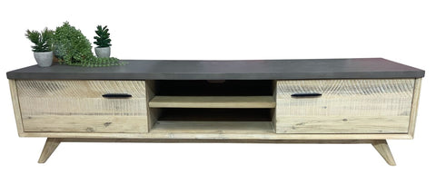 Mallee TV Unit With Terrazzo Stone Top - OCCASIONAL