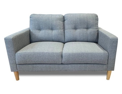 Mallory 2 Seater Sofa in sky Grey - LOUNGE