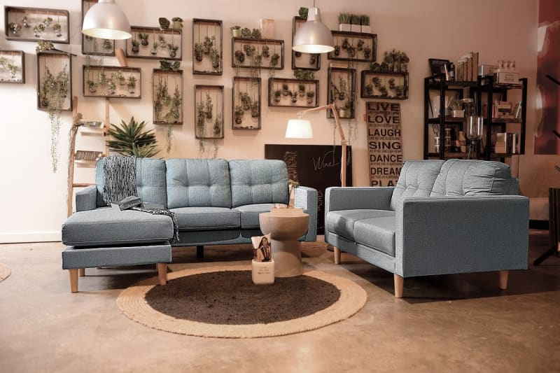 Our Furniture Warehouse Mallory 2 Seater Sofa In Sky Grey