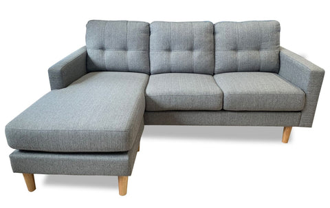 Mallory Reversible Chaise Lounge In Sky #14 Grey - LOUNGE