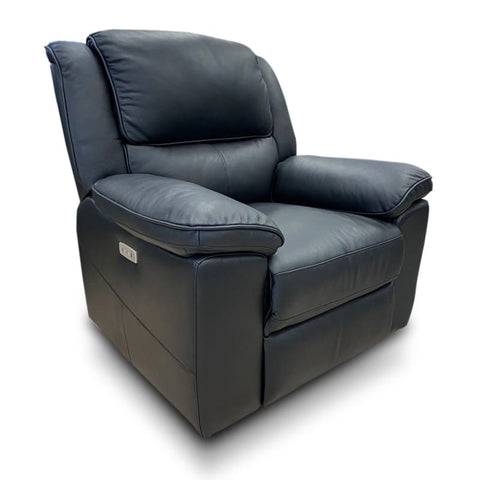 Michigan recliner in premium thick black leather