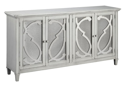 Mirimyn 4 door cabinet antique finish - OCCASIONAL