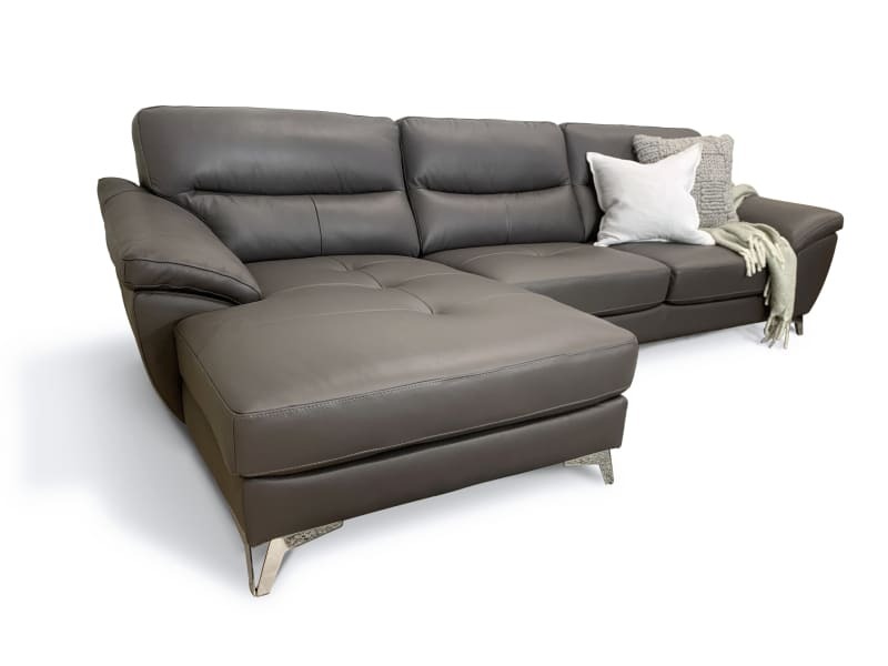 Our Furniture Warehouse New York Leather Left Hand Facing Chaise