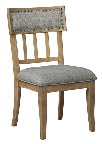Ollesburg dining chair with upholstered seat - DINING