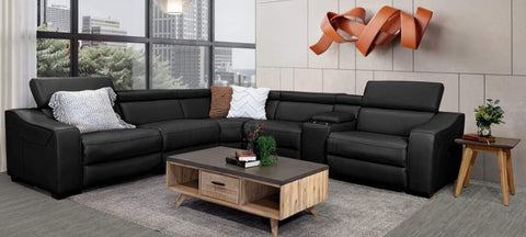 Orlando 6 Piece modular lounge with adjustable backs and electric recliners - LOUNGE