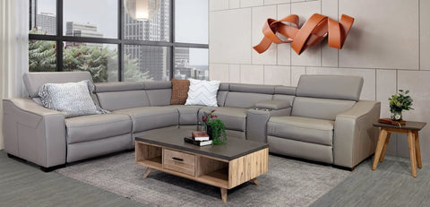 Orlando 6pce modular lounge with adjustable backs and electric recliners - LOUNGE