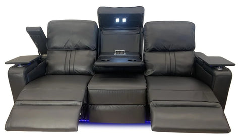 Santana 3 seater lounge with multi function electric functions - LOUNGE