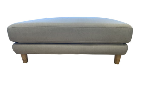 Semaphore oversized ottoman in sky sand - LOUNGE