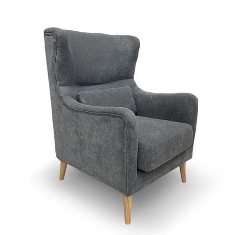 Stacey Accent Chair in Dark Grey