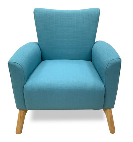 Stephanie y-269 accent chair in sky aqua - LOUNGE
