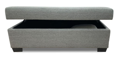 Storage ottoman in Sky Silver Grey - LOUNGE
