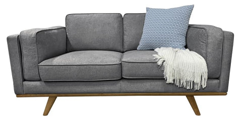 Talia 2 Seater Sofa In Grey Fabric
