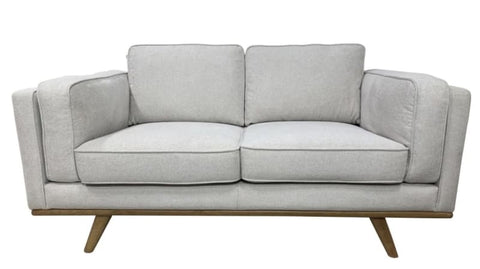 Talia 2 seater sofa with timber plynth
