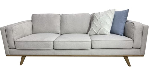 Talia 3 seater sofa with timber plynth